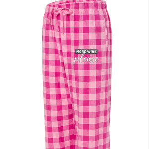 More Wine Please - Flannel Pants