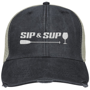 Sip & Sup - Distressed Trucker Cap