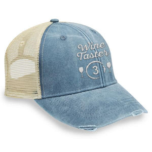 Wine Taster 3 - Distressed Trucker Cap