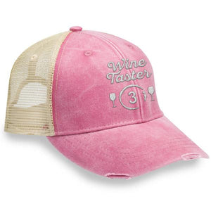 WINE TASTER 3 - DISTRESSED TRUCKER CAP (MESH BACK)