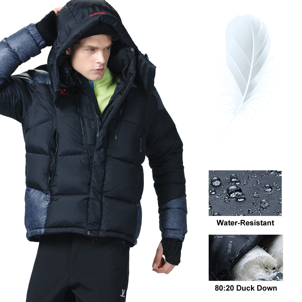 39042cb6170 FZX-995 Fuerza Winter 100% White Duck Down Jacket Parka Coat ...