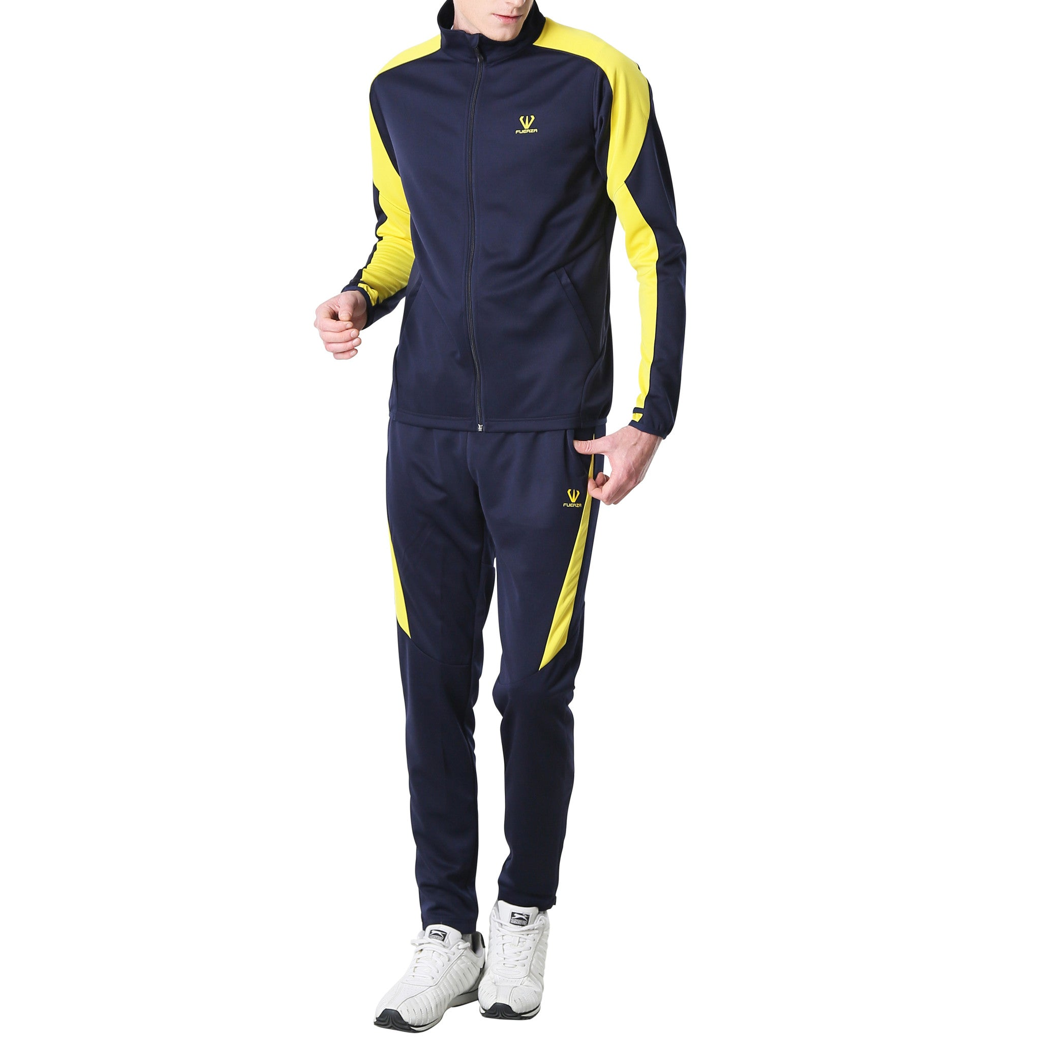 Fuerza Mens Training Warm Up Premium Material Knit Tracksuit