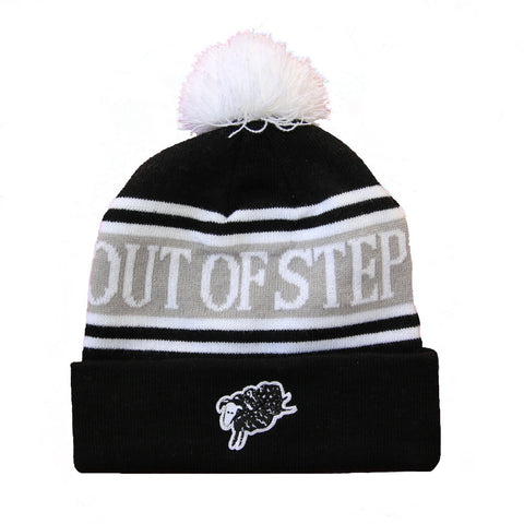 BLACK SHEEP POM BEANIE