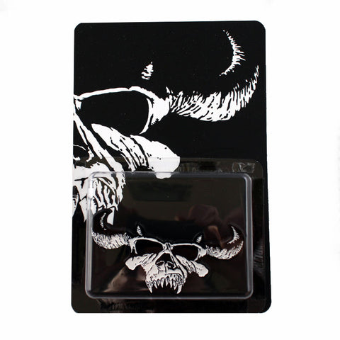"JUMBO GLOW IN THE DARK ""AM I DEMON"" PIN"