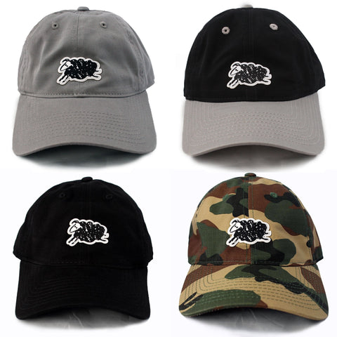 BLACK SHEEP STRAP BACK HAT