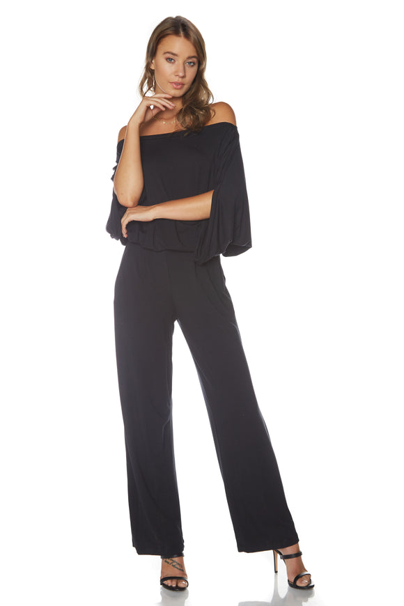 Dare to Bare Off-the-Shoulder Jumpsuit