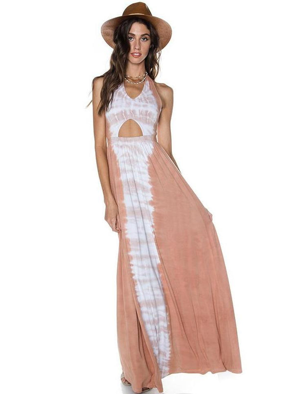 Summer Sunrise Cutout Maxi Dress