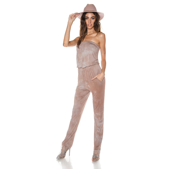 SANDY SHORES STRAPLESS JUMPSUIT
