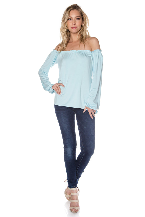ISLAND PARADISE Off-The-Shoulder Top
