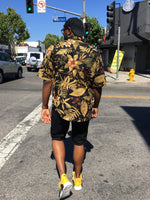 """Leaf print"" Cool Guy shirt"