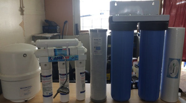 Reverse Osmosis with Alkaliser & Whole House water filter