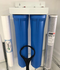 "Twin Big Blue BASICGRADE 20"" x 2.5 Whole House INC Filters!"