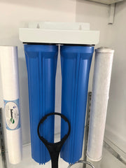 "Twin Big Blue HIGHGRADE 20"" x 2.5 Whole House INC Filters!"