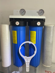 "Twin Big Blue BASICGRADE 20"" x 4.5 Whole House INC Filters!"