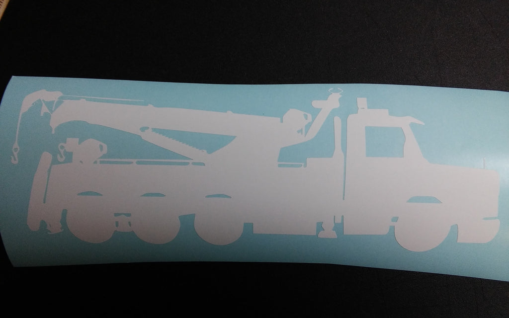 Heavy wrecker rotator decal