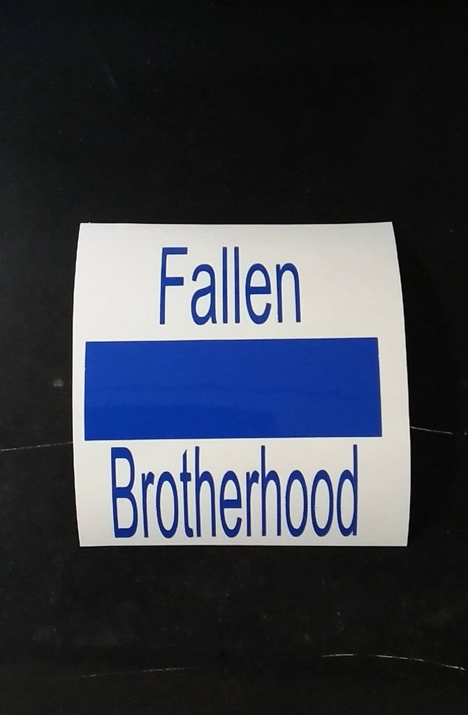 "4"" Fallen Brotherhood - Blue Sticker"