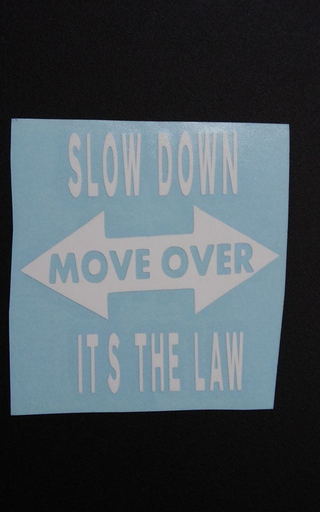 "4"" Slow Down Move Over - White Sticker"