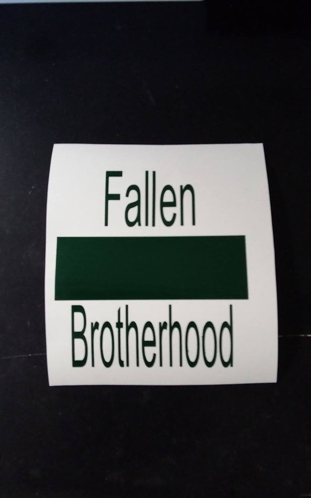 "4"" Fallen Brotherhood - Green Sticker"