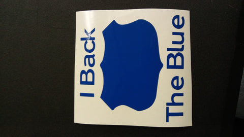 I back the blue decal
