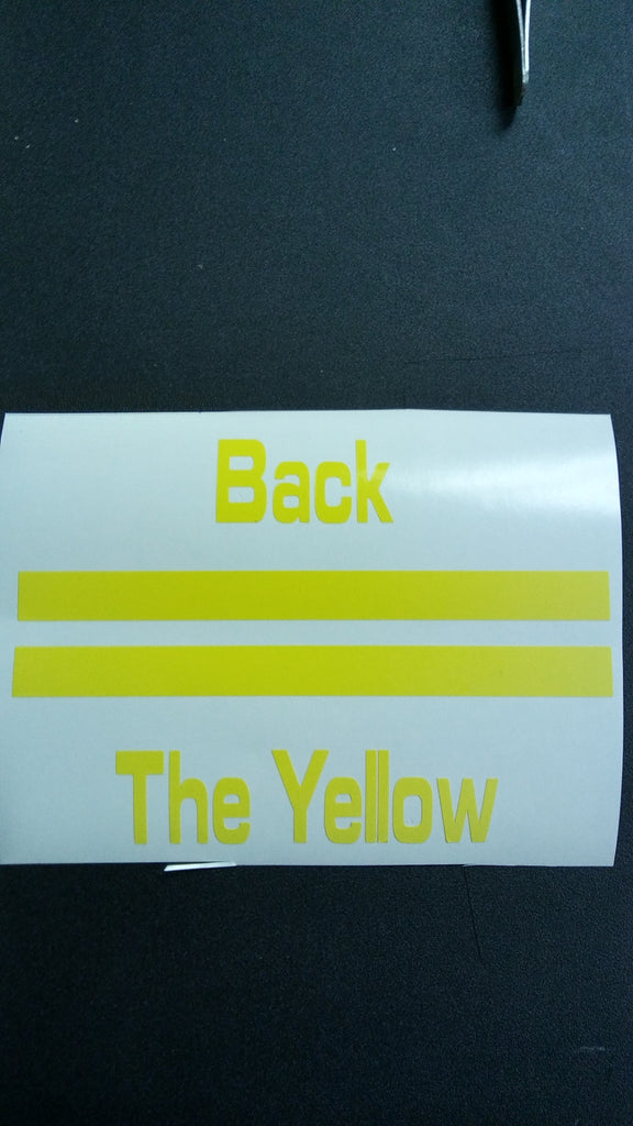 Back the yellow decal