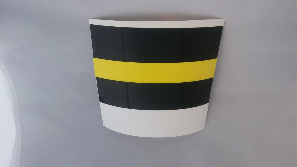 Thin yellow line decals