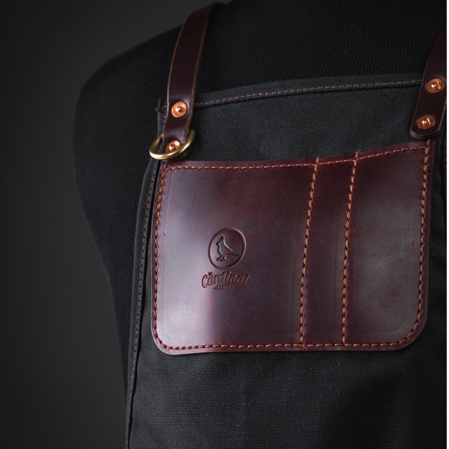 Premium Barber & Stylist Apron: Black Waxed Canvas - [Limited Edition]