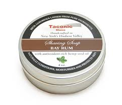Taconic Shave Soap Tin- Bay Rum