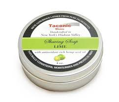 Taconic Shave Soap Tin- Lime