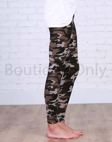 Boutique Only Camo Leggings YOGA WAISTBAND