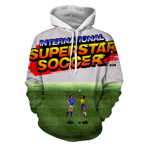International Superstar Soccer Hoodie - Gamer Treasures