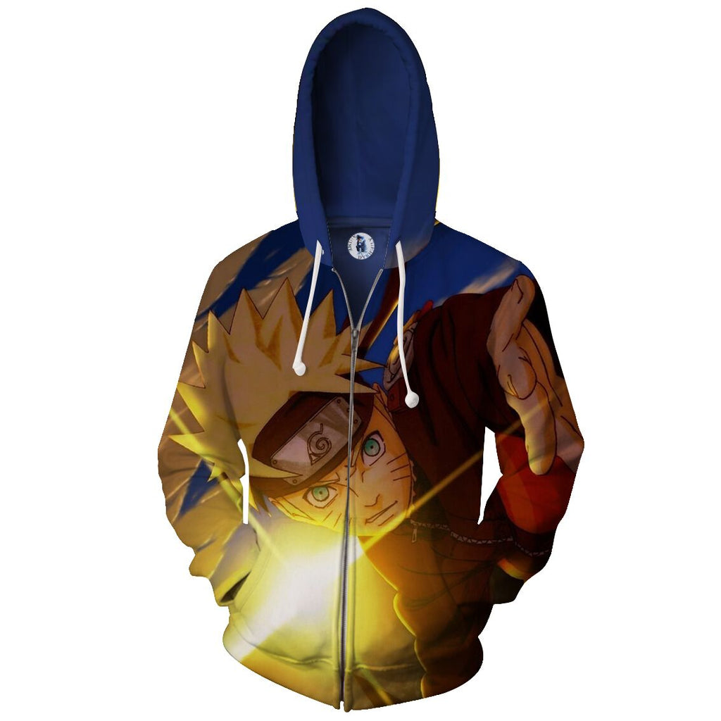 Naruto Zipped Hoodie - Gamer Treasures