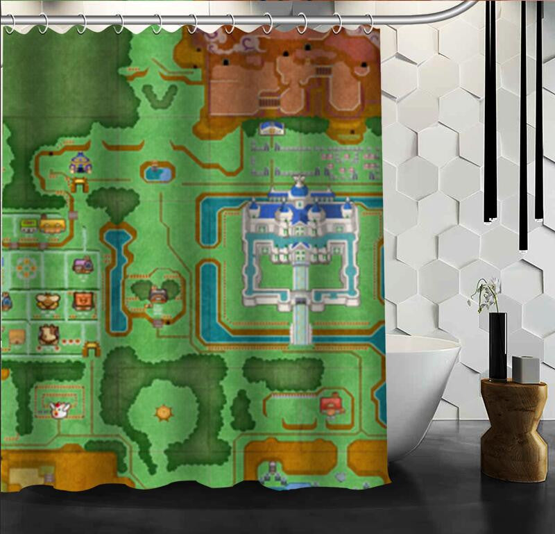 The Legend Of Zelda: A Link Between Worlds Shower Curtain