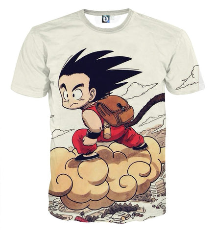Son Goku Nimbus Riding Dragon Ball 3D T-shirt - Gamer Treasures