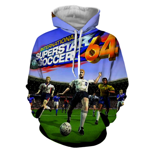 International Superstar Soccer 64 Hoodie - Gamer Treasures