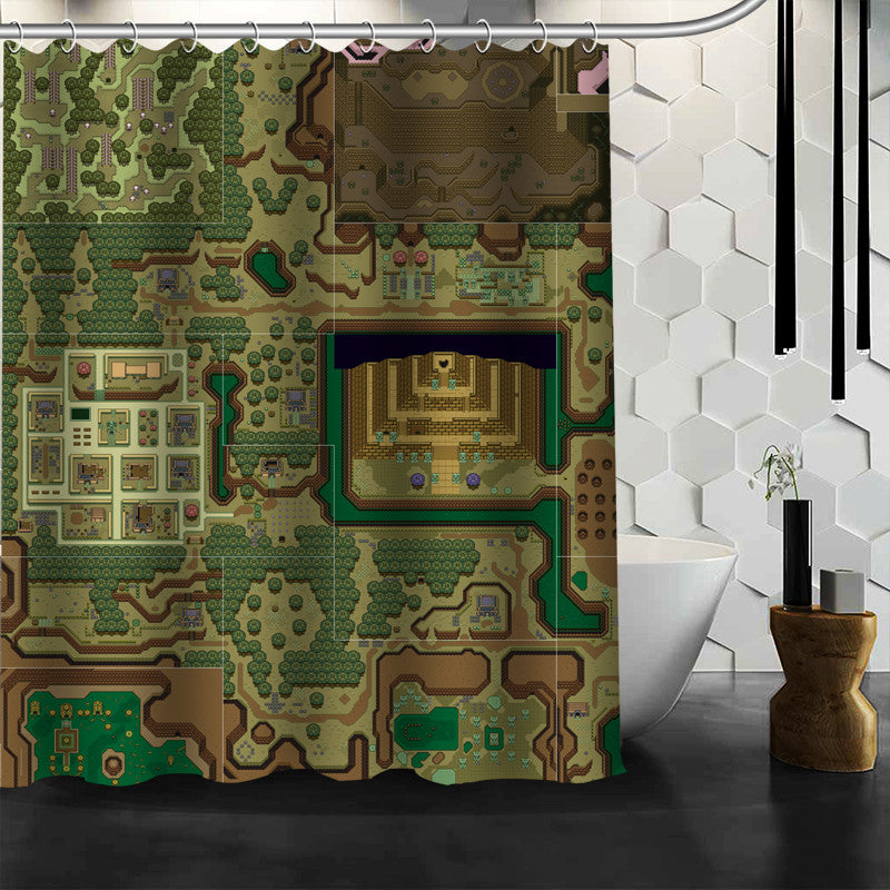 The Legend Of Zelda: A Link To The Past Dark World Shower Curtain - Gamer Treasures