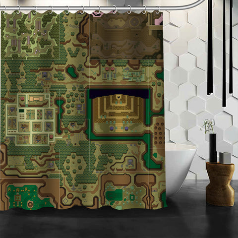 The Legend Of Zelda: A Link To The Past Dark World Shower Curtain