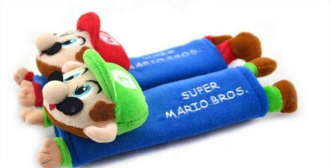 Mario Bros Plush Seat Belt Cover - Gamer Treasures