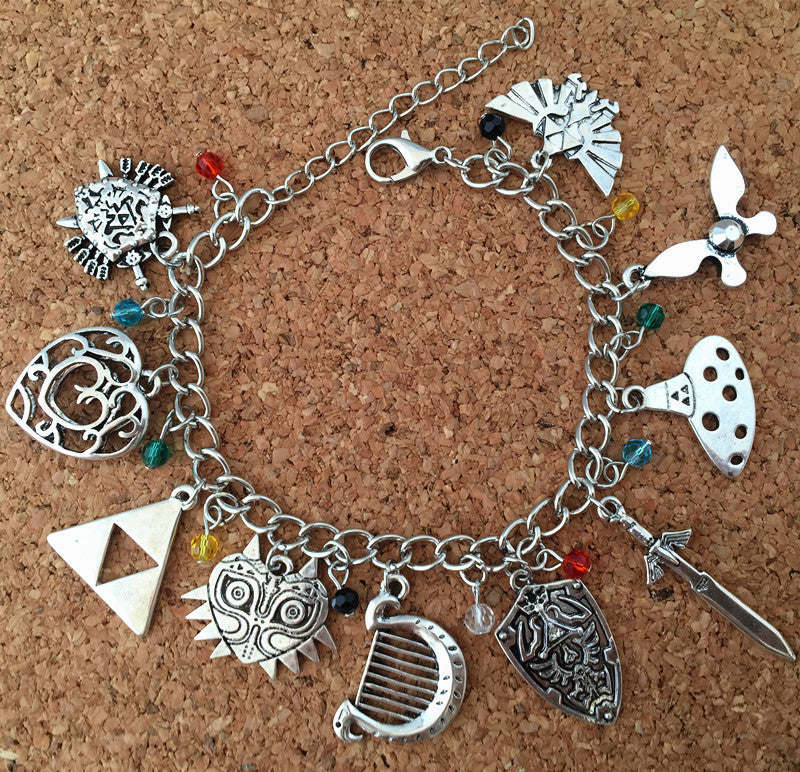 The Legend of Zelda Charm Bracelet - Gamer Treasures