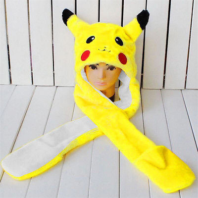 Pikachu Winter Hat with Handwarmer Pockets - Gamer Treasures