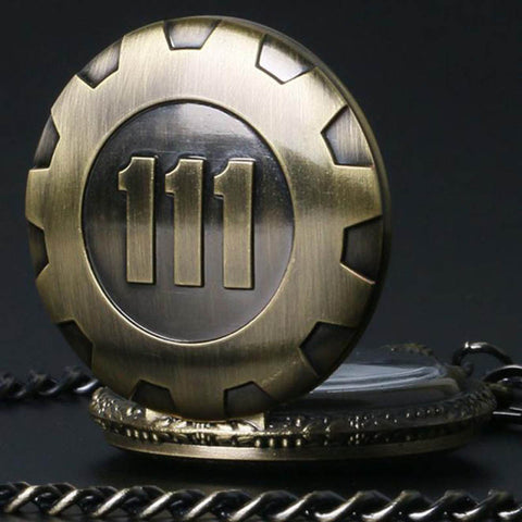 Vault 111 Quartz Pendant Pocket Watch - Gamer Treasures