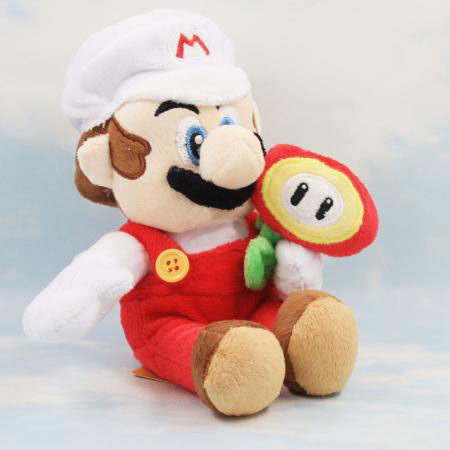 Fire Mario Plush Toy 20cm/8 inches - Gamer Treasures