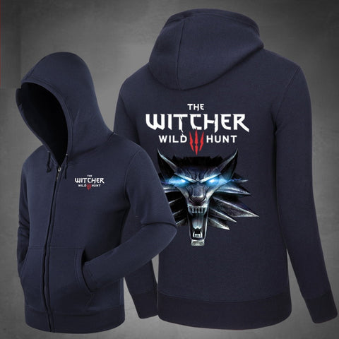 The Witcher 3: Wild Hunt Hoodie Dark Blue