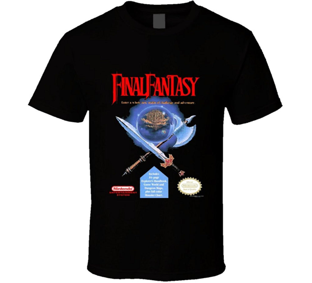 Final Fantasy I Box Art T-shirt - Gamer Treasures