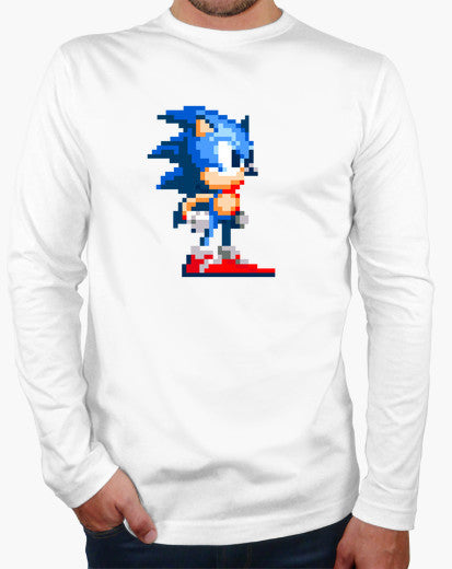 Sonic The Hedgehog 16-bits Long Sleeve T-shirt