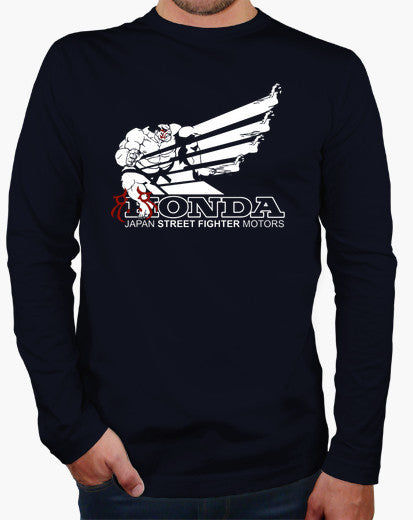 Honda Japan Street Fighter Motors Long Sleeve T-shirt - Gamer Treasures