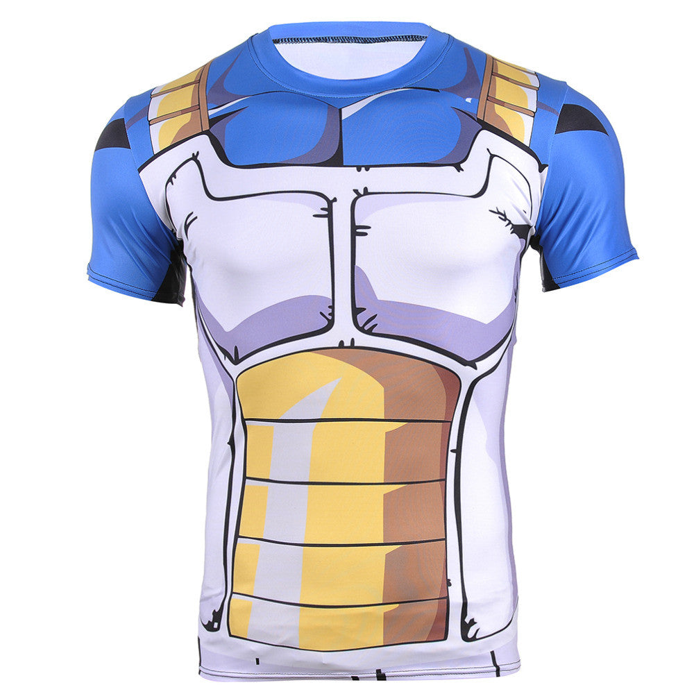 Vegeta Saiyan Armor Dragon Ball Z Compression Shirt - Gamer Treasures