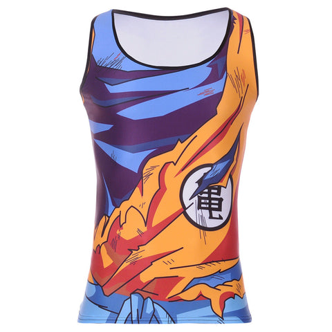 Son Goku's Damaged Battle Tank Top Uniform - Gamer Treasures