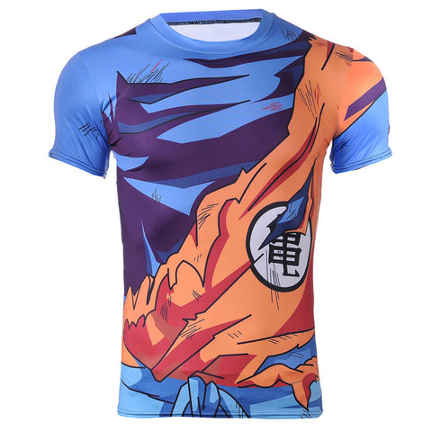 Goku Damaged Battle Uniform Dragon Ball Z Compression Shirt - Gamer Treasures