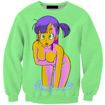 Bulma In The Water Dragon Ball Z Sweater