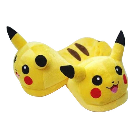 Pikachu Plush Indoor Slippers - Gamer Treasures